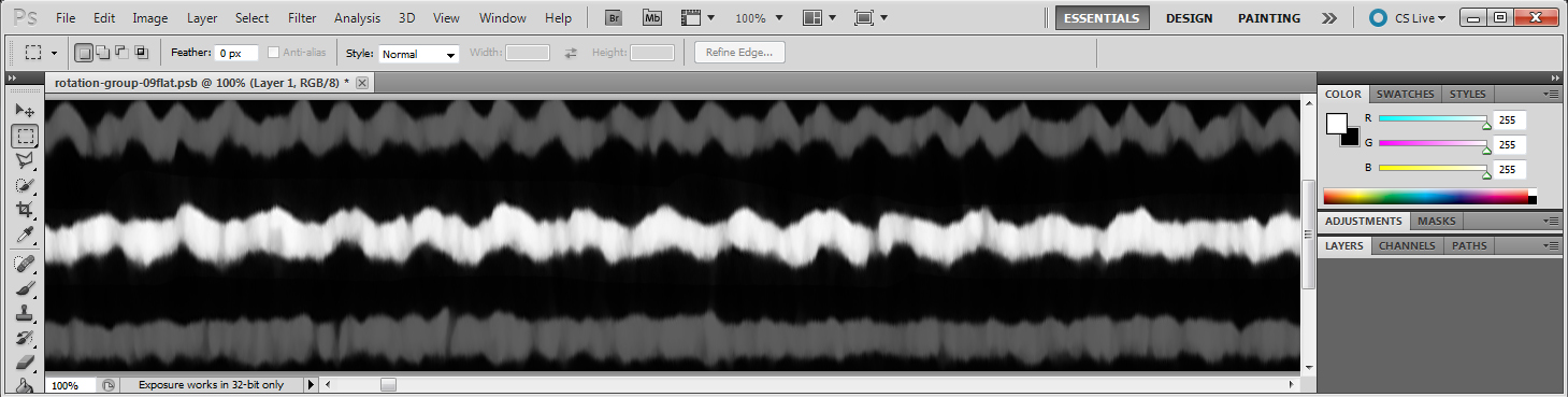 Cut-and-Pasted Images to Soundwaves